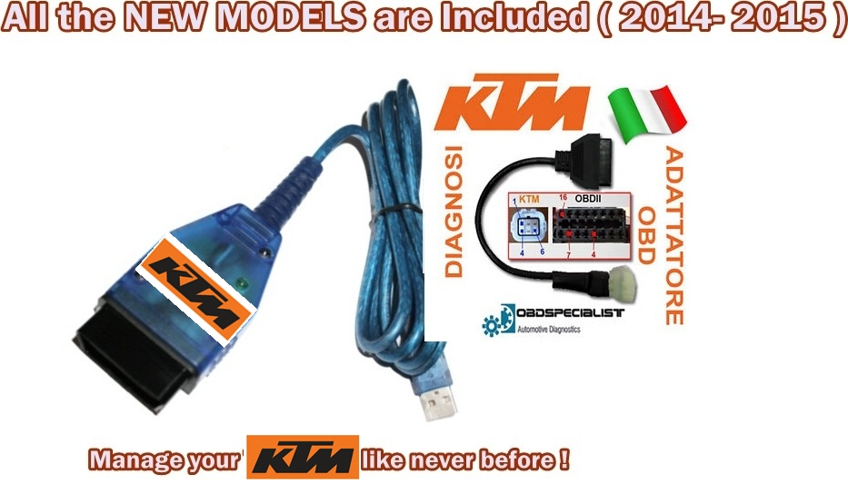 Diagnosis KTM Diagnostic tool Tune ECU Tuning Obd2 990 1190 690 SMC Enduro