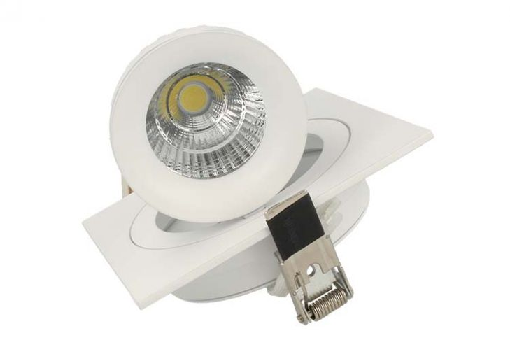 Faro Led Da Incasso Snooker Quadrato COB 10W