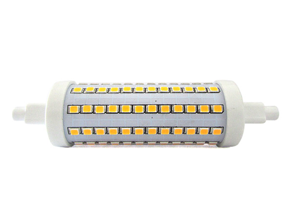 lampada led r7s rx7s 360 gradi dimmerabile 118mm 10w